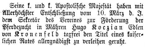 Wiener Zeitung vom 15.3.1908