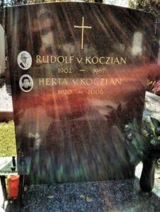 Grabstein Rudolf und Herta Koczian (Salzburger Kommunalfriedhof)