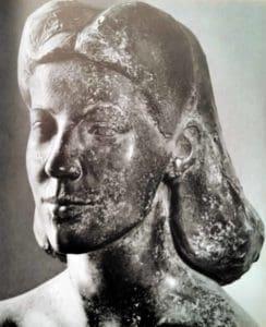 Lydia von Koczian - Kopf einer Bronzestatue von Toni Schneider-Manzell aus 1948